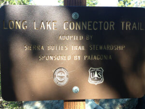 Long Lake trail sign