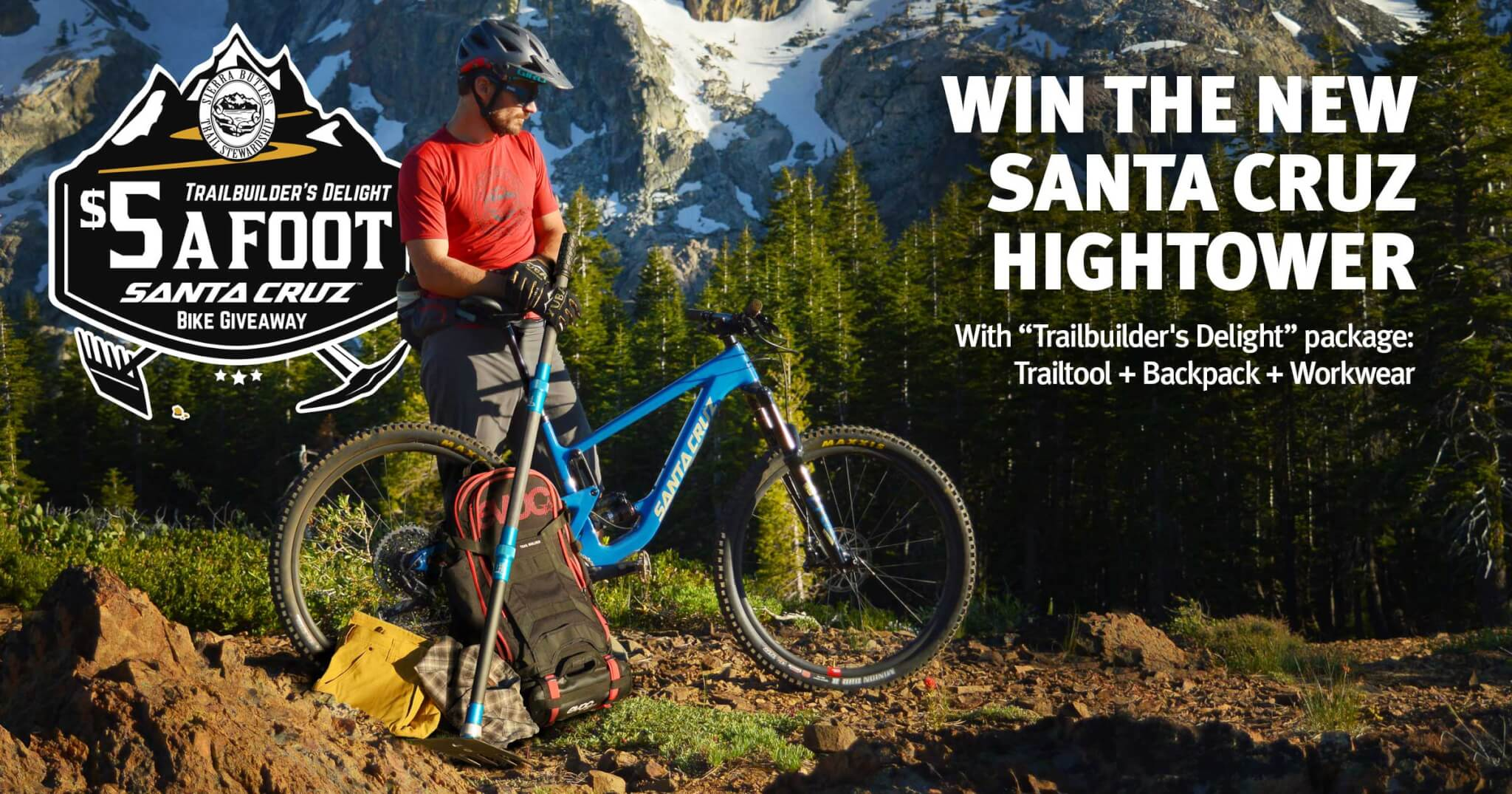 5 Bucks a Foot Fundraiser - Win the new Santa Cruz Hightower - Enter Here