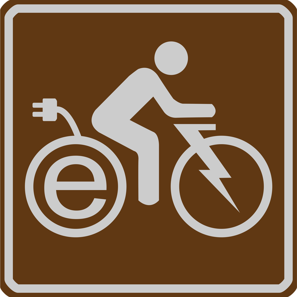 eBike National Forest sign