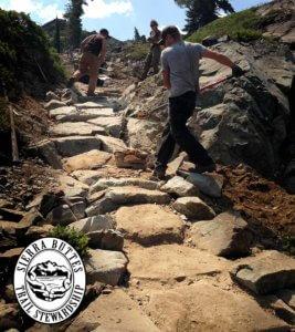 Trail Crew building trail