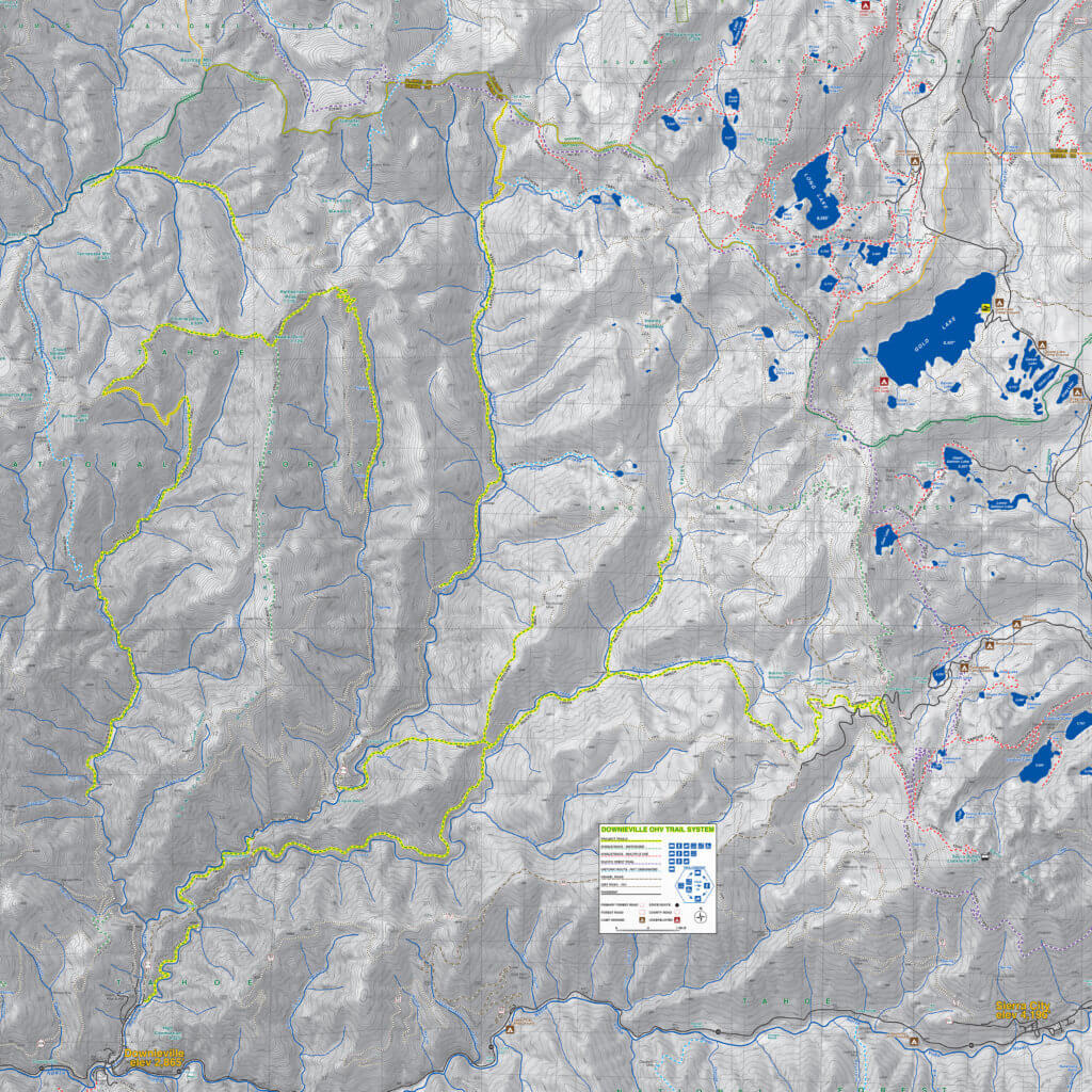 Downieville Trail System Map