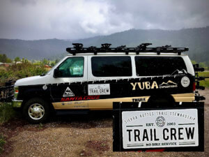 Yuba Expeditions van converted to a Trail Crew work van