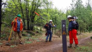 Trail Crew on Mt. Hough