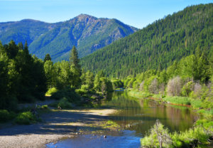 Indian Creek running through Taylorsville