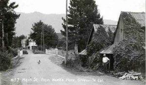 Historical photo of Main Street Greenville
