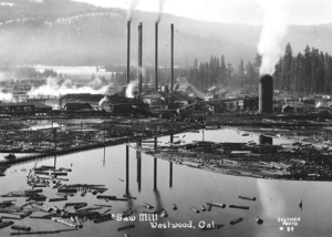 Old photo of lumber mill