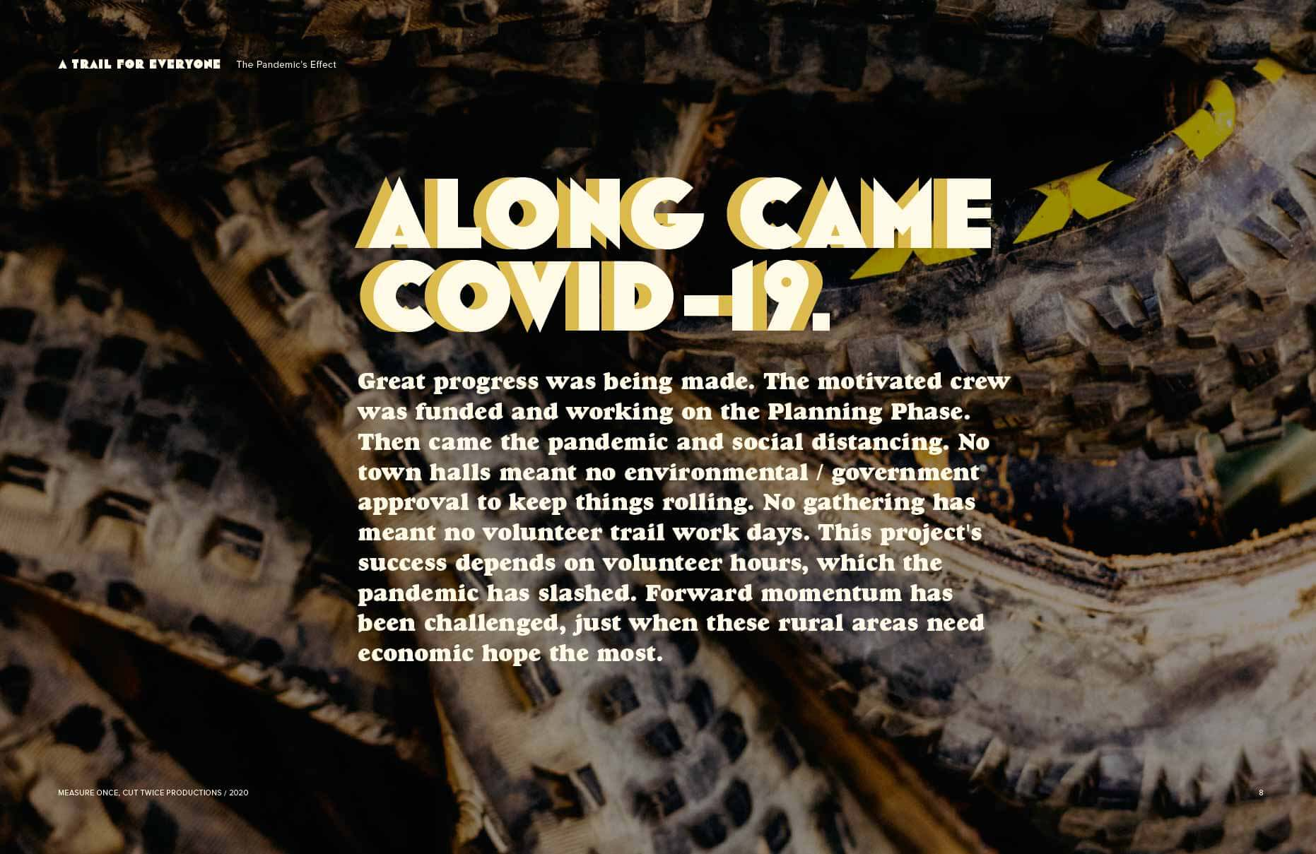 ALONG CAME COVID -19.