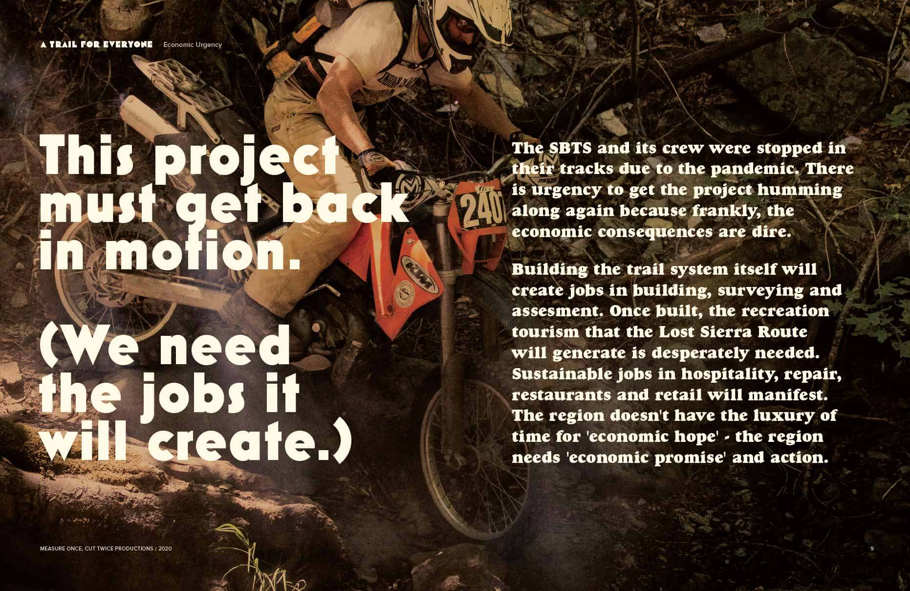 This project must get back in motion. (We need the jobs it will create.)
