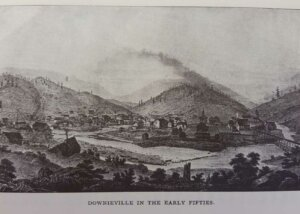 Downieville in the 1850's Illustration