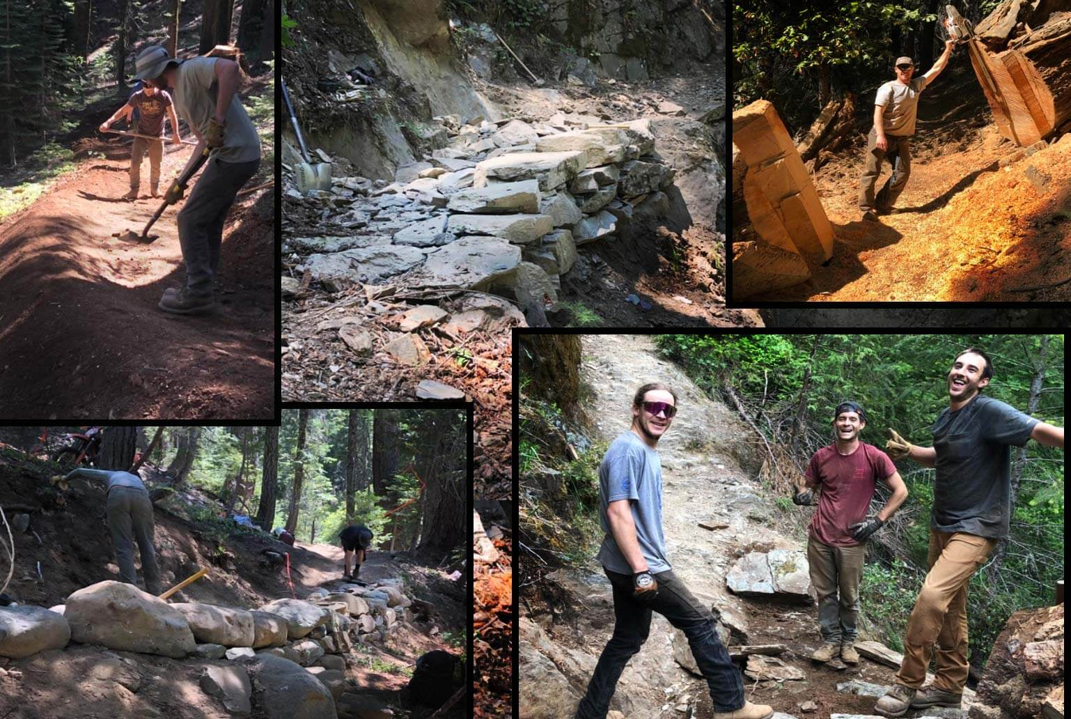 Trail Crew working collage