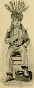 Drawing of Old Winnemucca Chief Truckee