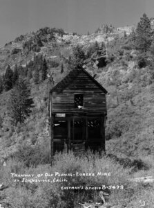 Tramway of Old Plumas-Eureka Mine at Johnsville, Calif.