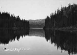 "Eastman, Jervie Henry. ""Beautiful Buck's Lake"" near Quincy, Calif. UC Davis. General Library. 1937"