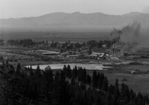 Old photo of a sawmill operation in Loyalton