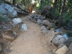 trail through rocks