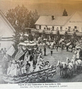 Fourth of July parade in Sierraville, 1902.
